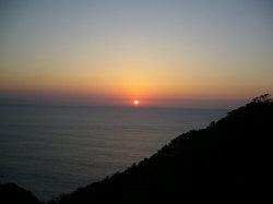 土佐の夕日