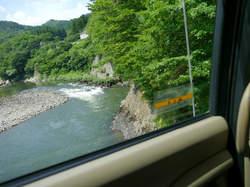 鷹ノ巣館 送迎 吊り橋からの景色