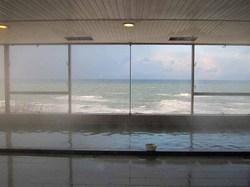 岬館(岬ひとひら) 大浴場 金の舟からの景色